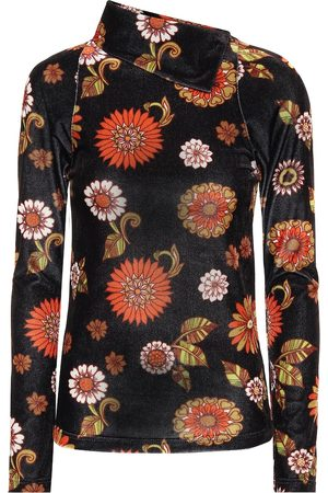DODO BAR OR Floral velour turtleneck top