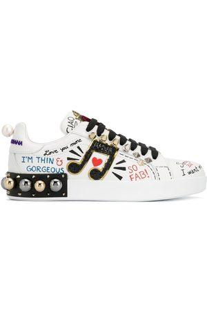 Dolce & Gabbana Portofino appliqué sneakers