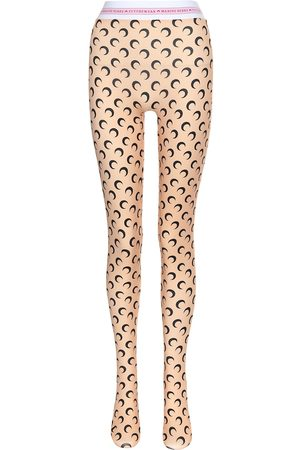 Marine Serre Printed stretch-jersey tights