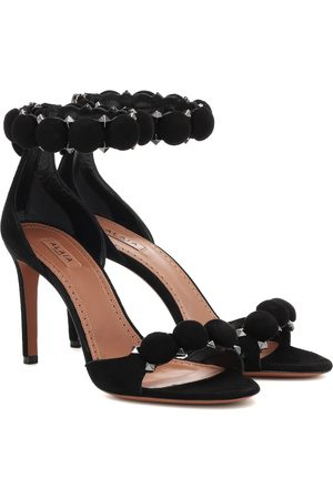 Alaïa Women Sandals - Studded suede sandals