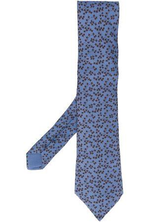 Hermès 2000s leaf print tie