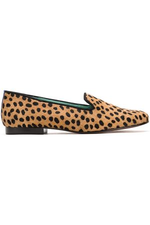 Blue Bird Women Loafers - Animal print loafers