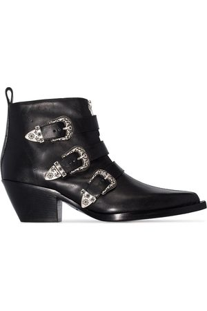 R13 Buckle-detail ankle boots