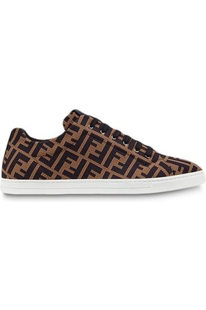 Fendi FF motif lace-up sneakers