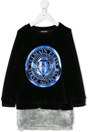 Balmain Medallion logo jumper dress