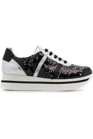 Tosca Blu Sequinned platform sneakers