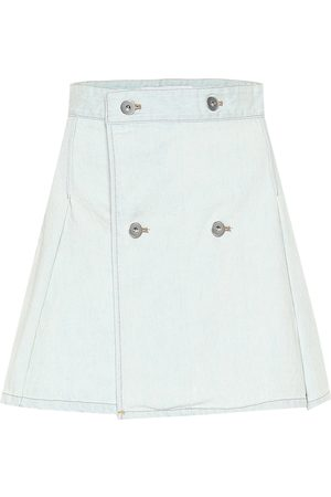 MATTHEW ADAMS DOLAN Denim miniskirt