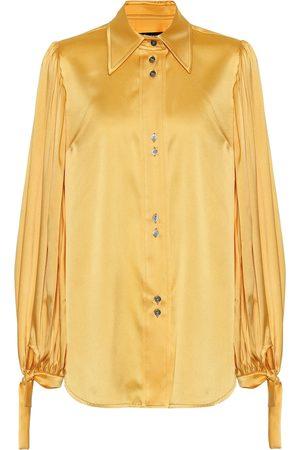 Ellery Monpi stretch-silk satin blouse