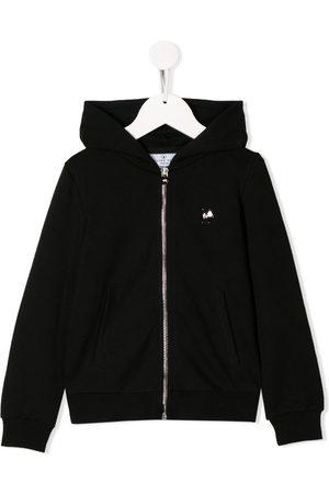 Philipp Plein Rhinestone logo zip-up hoodie
