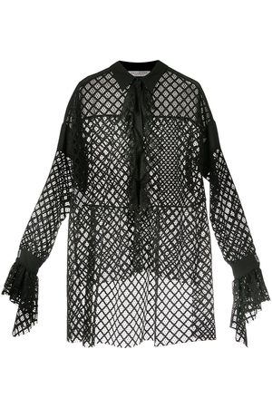 Serafini High low netted blouse