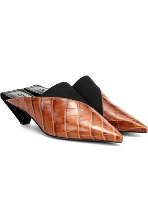 Mercedes Castillo Joilette croc-effect leather mules