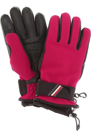 Moncler Leather-trimmed gloves