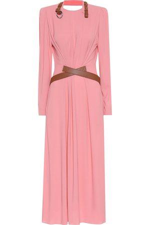 Stella McCartney Faux leather-trimmed maxi dress