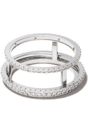 De Beers 18kt The Horizon full pavé diamond ring