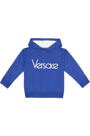 VERSACE Girls Stretch Pants - Logo stretch-cotton hoodie