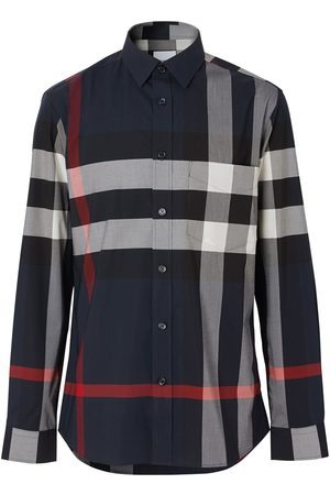 Burberry Check stretch poplin shirt