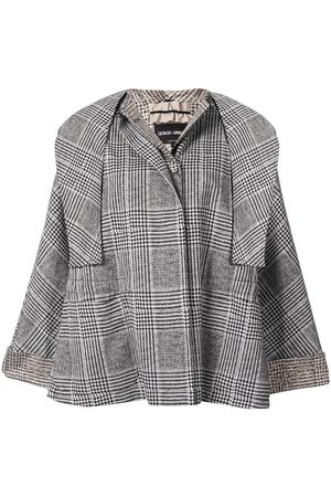 Armani Checked cape jacket