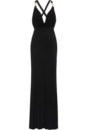 VERSACE Embellished satin gown