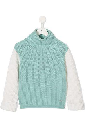Emporio Armani Turtleneck colour-block jumper