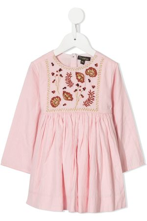 Velveteen Camille embroidered dress