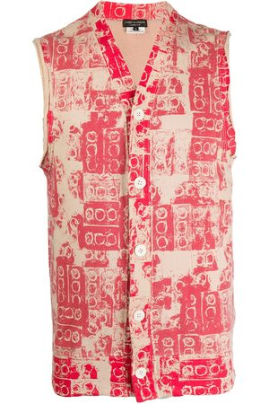 Comme des Garçons 2007 lego print buttoned vest