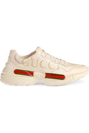 Gucci Rhyton fake logo leather sneakers