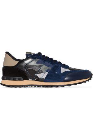 VALENTINO Garavani Rockstud Rockrunner Camouflage Leather Sneakers