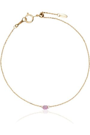 PERSÉE 18kt yellow gold and sapphire chain bracelet
