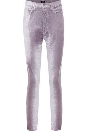 Citizens of Humanity Olivia high-rise velvet skinny pants