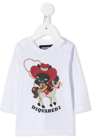 Dsquared2 Rodeo print long sleeve top