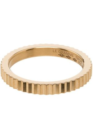 Le Gramme Men Rings - Single Guilloche ring