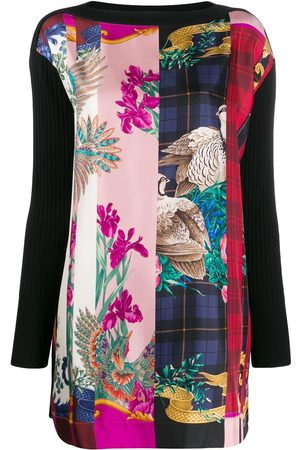 Salvatore Ferragamo Graphic print panel top