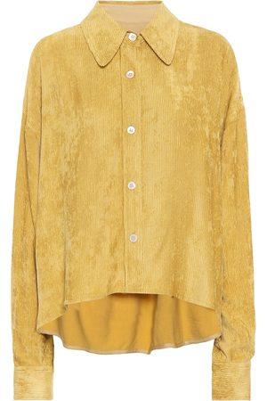 Isabel Marant Fanao ribbed velvet shirt