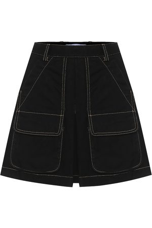 MATTHEW ADAMS DOLAN Cotton-denim miniskirt