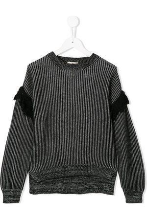 Le pandorine Fringe ribbed knit jumper