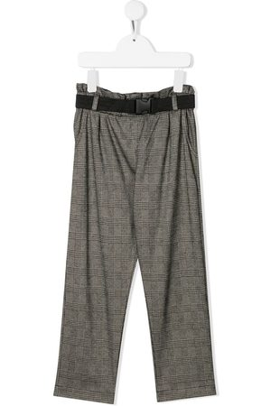 Le pandorine Girls Pants - Belted check trousers