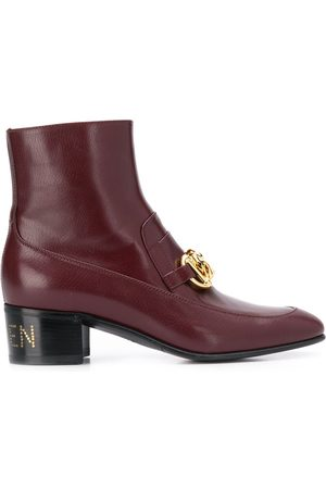 Gucci Horsebit chain ankle boots