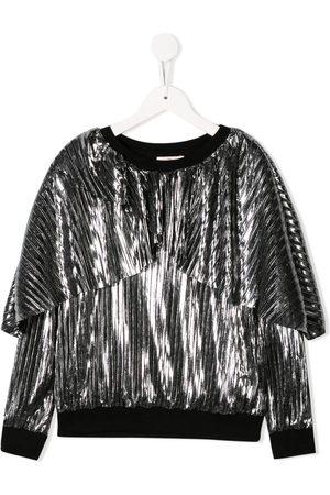 Le pandorine Metallic pleated sweatshirt