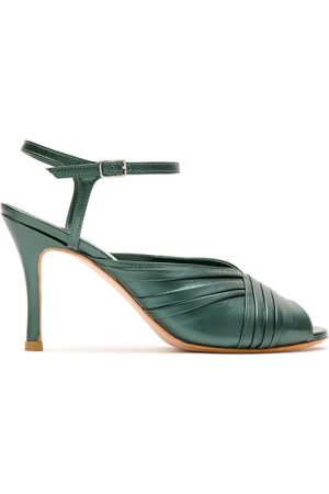 Sarah Chofakian Pleated leather sandals