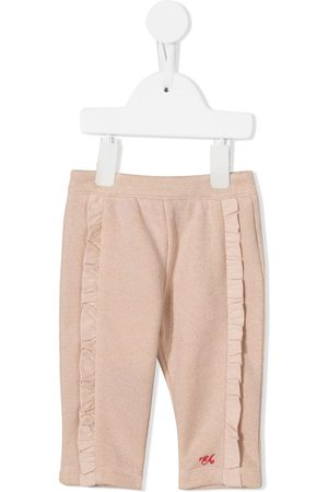 Emporio Armani Baby Chinos - Ruffle-trimmed trousers