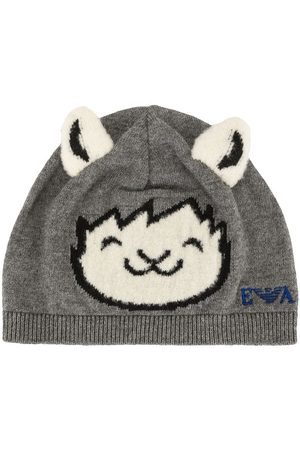 Emporio Armani Boys Beanies - Animal beanie hat