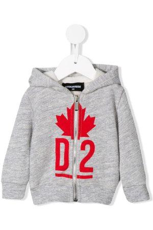 Dsquared2 Logo zip-up hoodie