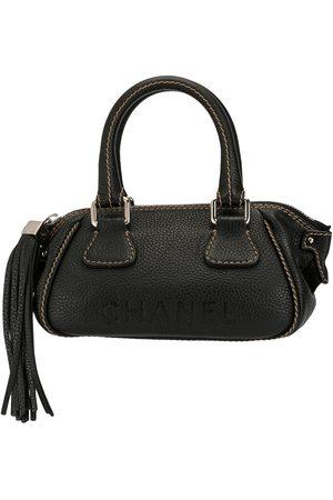 CHANEL Logo fringe hand bag
