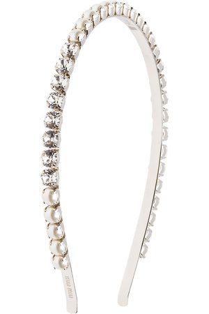 Miu Miu Pearl and crystal embellished headband