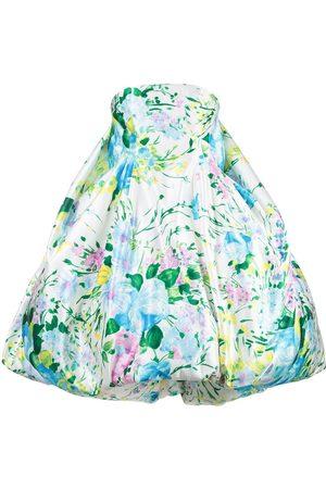 RICHARD QUINN Floral strapless dress