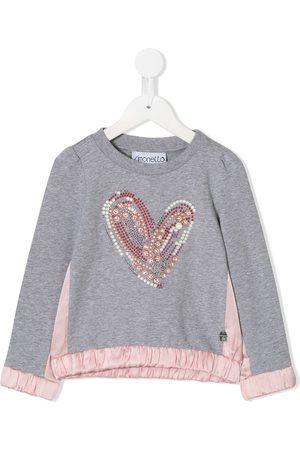 Simonetta Embellished heart sweatshirt