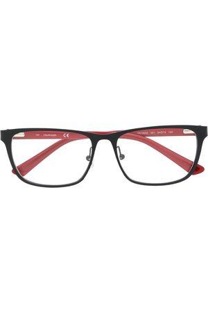 Calvin Klein Rectangular-frame contrast glasses