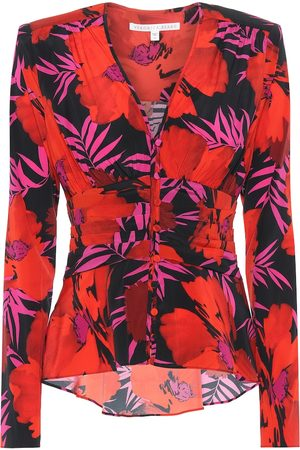 VERONICA BEARD Pevero floral stretch-silk top