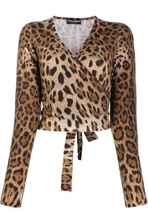 Dolce & Gabbana Leopard print wrap jumper