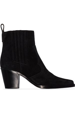 Ganni Western-style ankle boots
